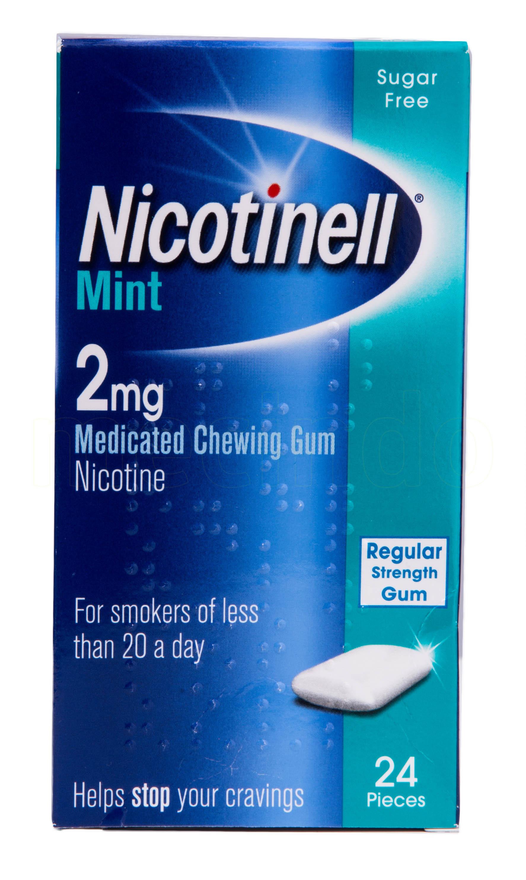 Billede af Nicotinell Tyggegummi Mint - 2 mg - 24 stk