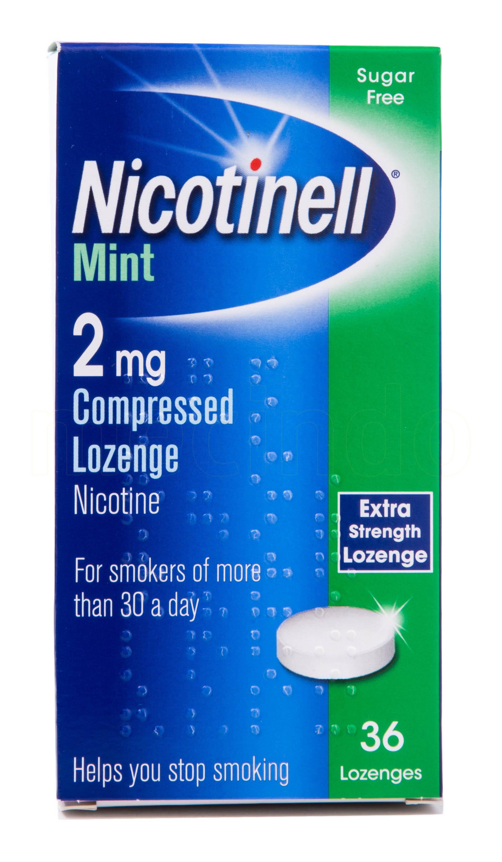 Billede af Nicotinell Sugetabletter Mint - 2 mg - 36 Suge