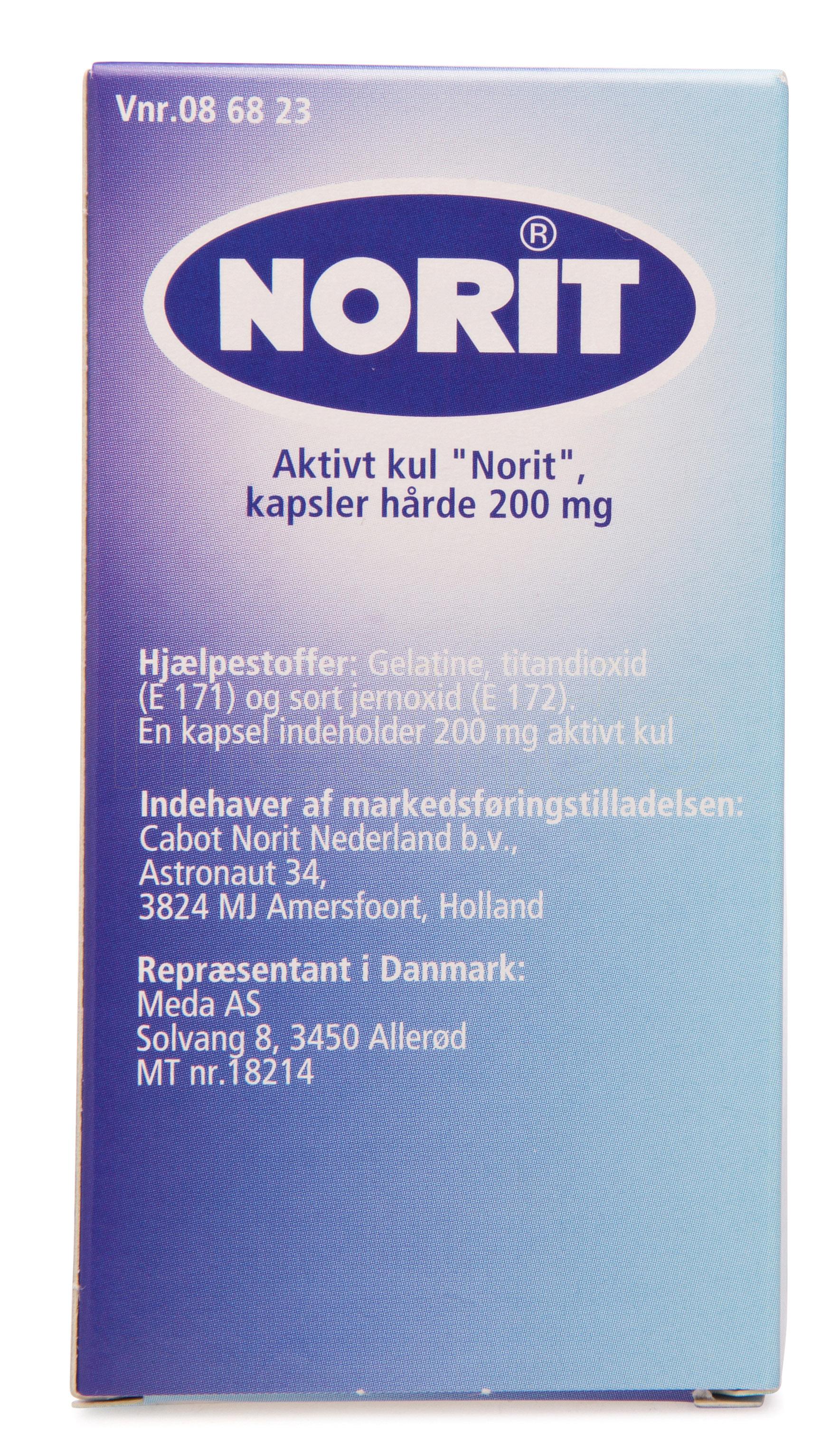 Image of   Aktivt Kul Norit - 200 mg - 30 Kaps