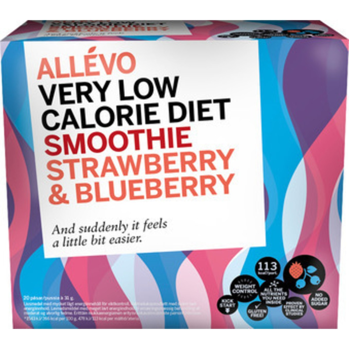 Image of Allevo Smoothie Strawberry & Blueberry - 20 port - 1 Stk.