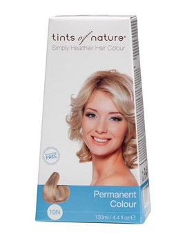 Billede af Tints of Nature Permanent Hårfarve 10N Platinium Blonde - 130 ml
