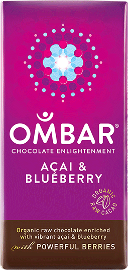 Image of   Ombar Acai & Blåbær Bar - 35 Gram - 1 Bars