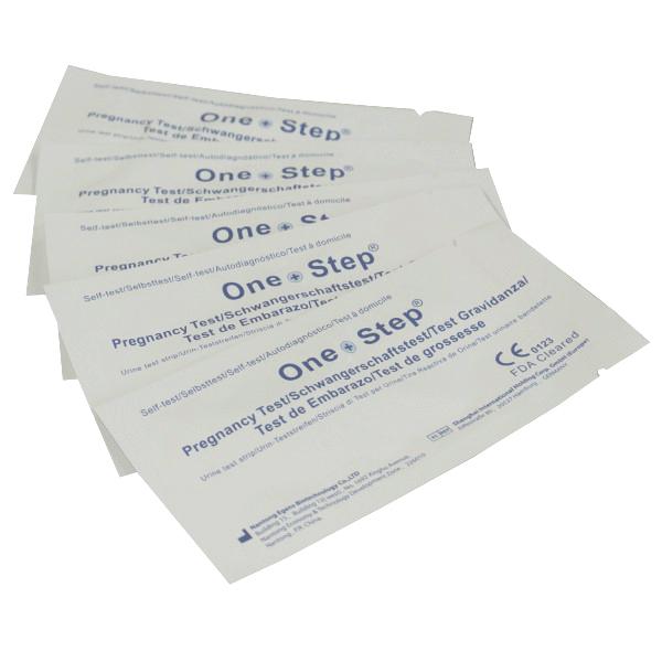 Billede af One Step Graviditetstest Strip - 10 mIU/ - 10 Test