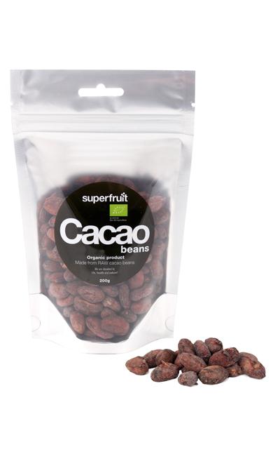 Image of   Superfruit Cacao Bønner Raw Ø - 200 Gram