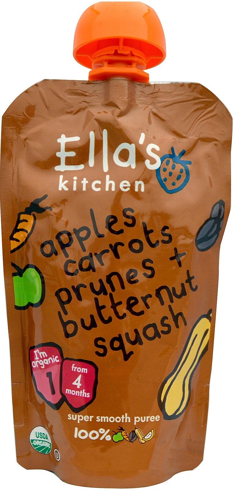 Image of   Ellas Kitchen Babymos butternut, gulerod, æble & sveske 4 mdr. Ø - 120 Gram