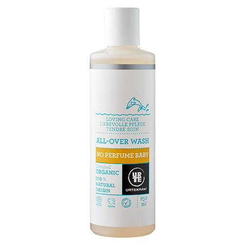 Image of   Urtekram - Body Care Baby All Over Wash No Perfume - 250 ml