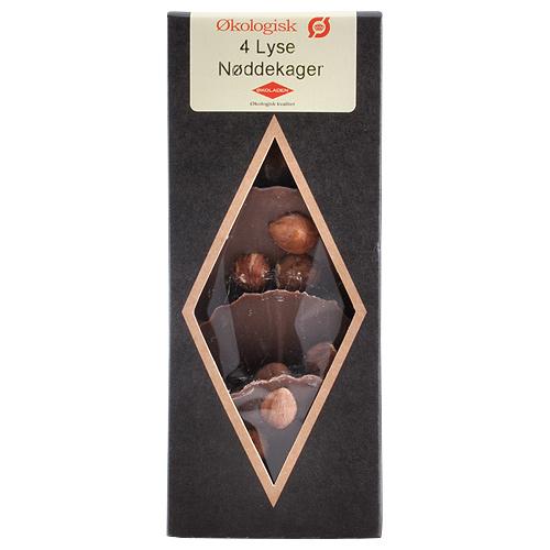 Økoladen Nøddekage m. Lys Chokolade - 75 G