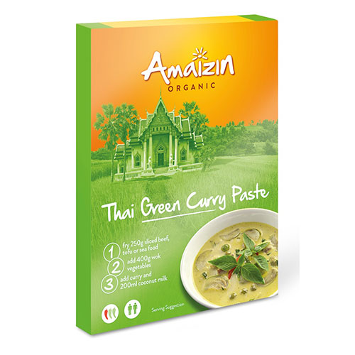 Image of Amaizin Karry Pasta Grøn Thai Ø - 80 G