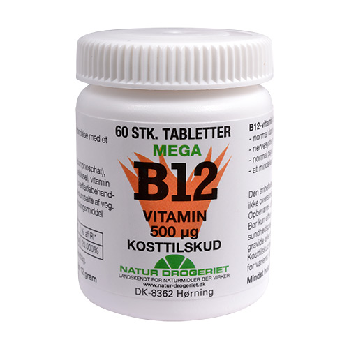Billede af Natur-Drogeriet B12 Mega Vitamin 500 Ug - 500 mcg - 60 Tabl