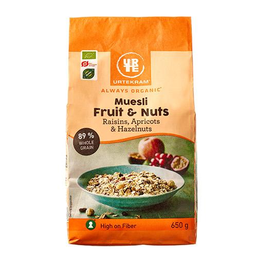 Urtekram Mysli fruit & nuts Ø - 650 G