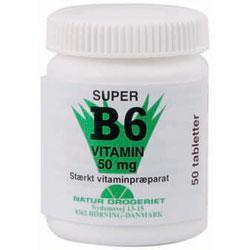 Billede af Natur-Drogeriet B6 Vitamin 50 Mg - 50 mg - 50 Tabl