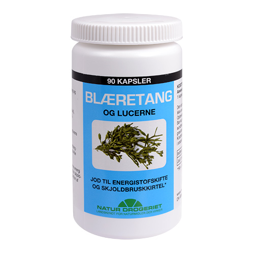 Billede af Natur-Drogeriet Blæretang (Havalge M. Lucerne) 400 Mg - 400 mg - 90 Kaps