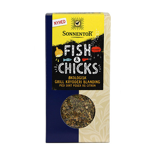 Image of   Sonnentor Grillkrydderi M. Sort Peber & Citron Ø Fish & Chicks - 55 G