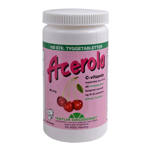 Billede af Natur-Drogeriet Acerola C Vitamin 90 Mg - 100 Tabl