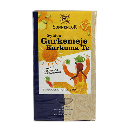 Image of   Sonnentor Gurkemeje Kurkuma Te Gylden Ø - 18 Brev