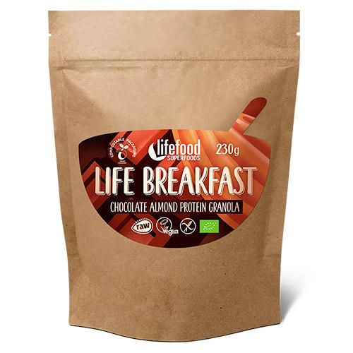 Image of   AbsorBurn Life Breakfast Chokolade & Mandel Protein Granola Raw Ø - 230 G
