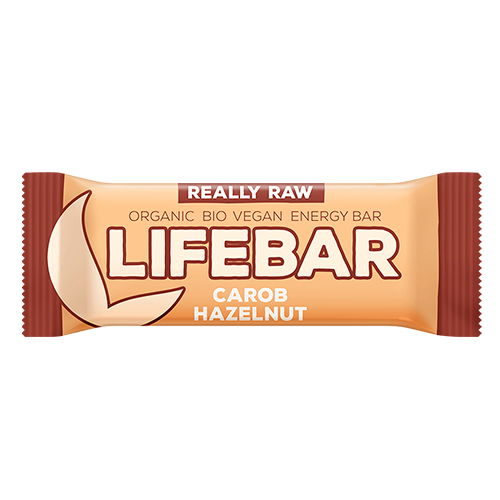 Image of   AbsorBurn Lifebar Carob Hasselnød Raw Ø - 47 G