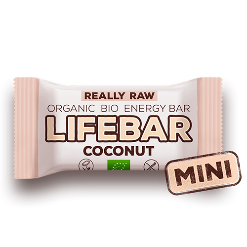 Image of   AbsorBurn Lifebar Mini Coconut Raw Ø - 25 G