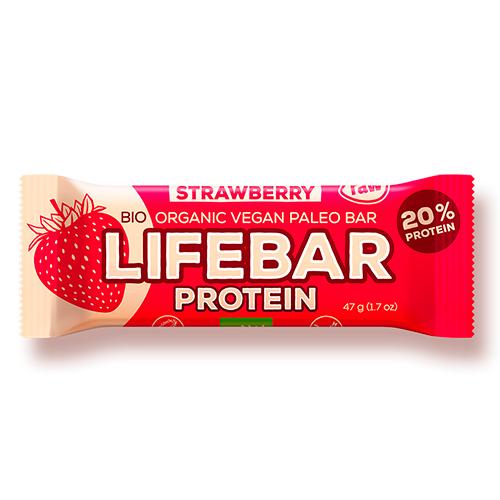 Image of AbsorBurn Lifebar Strawberry Proteinbar Raw Ø - 47 G