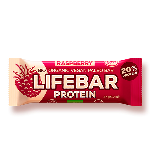 Image of   AbsorBurn Lifebar Raspberry Proteinbar Raw Ø - 47 G