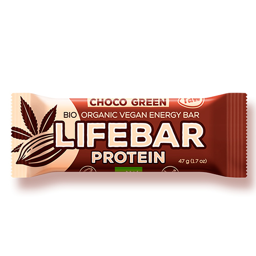 Image of   AbsorBurn Lifebar Choco Green Proteinbar - 47 G