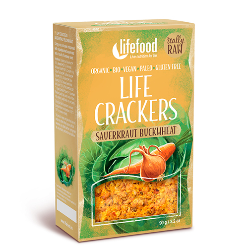 Image of   AbsorBurn Life Crackers M. Sauerkraut & Boghvede Raw Ø - 90 G