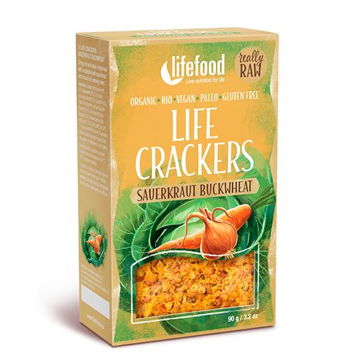Image of AbsorBurn Life Crackers M. Sauerkraut & Boghvede Raw Ø - 90 G