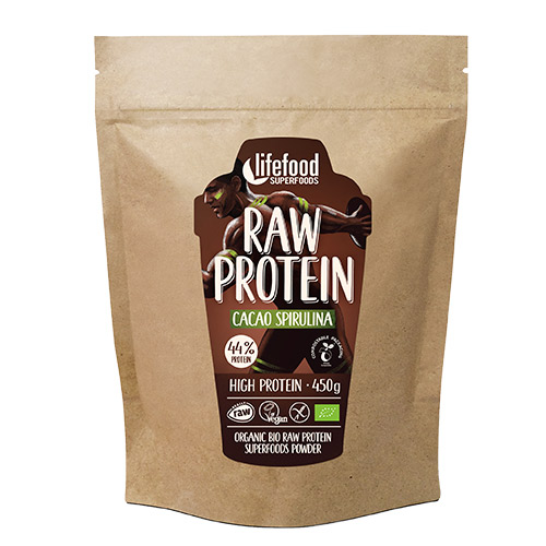 Image of   AbsorBurn Proteinpulver Kakao SpirulinaØ Superfood RAW - 450 G