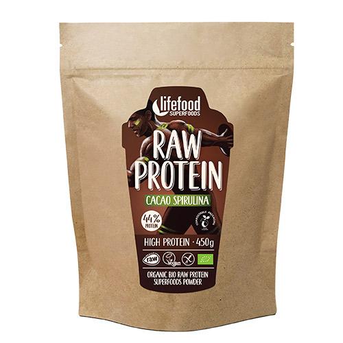 Image of AbsorBurn Proteinpulver Kakao SpirulinaØ Superfood RAW - 450 G