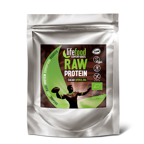 Image of   AbsorBurn Proteinpulver Kakao SpirulinaØ Superfood RAW - 35 G