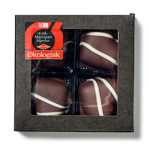Økoladen Marcipanhjerter i Æske - 75 G