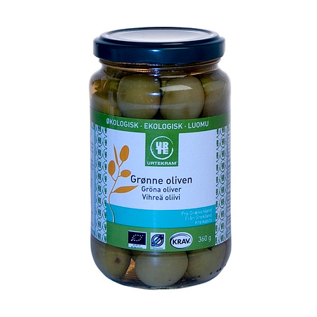 Urtekram grønne oliven fra Mecindo