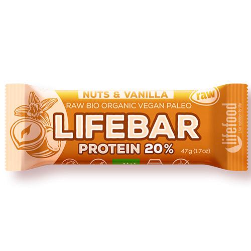 Image of   AbsorBurn Lifebar Nødder Vanilje Ø Proteinbar - 47 G