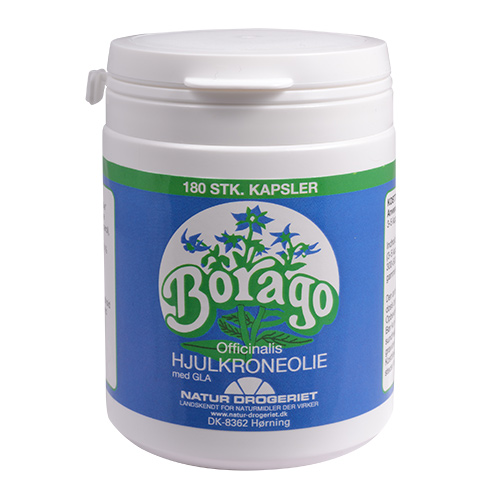 Billede af Natur-Drogeriet Borago Hjulkroneolie Kapsler 500 Mg Ø - 180 Kaps
