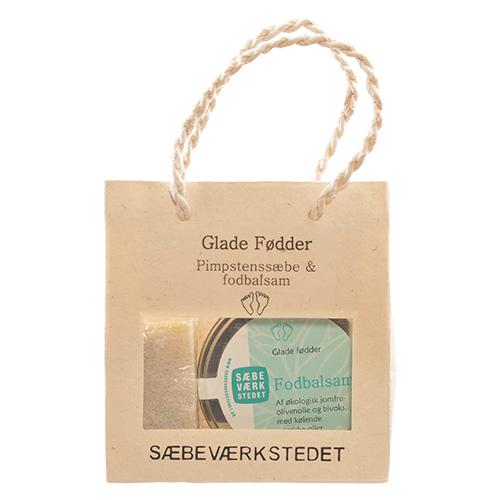 Image of   Sæbeværkstedet Glade Fødder Gavepose Pimpstenssæbe Og Fodbalsam - 1 Pakk