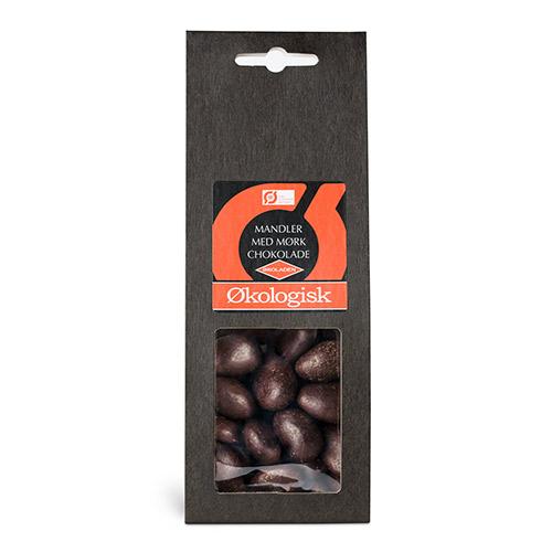 Økoladen Mandler m. Mørk Chokolade - 90 G