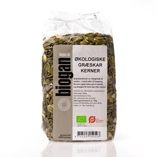 Biogan græskarkerner fra Mecindo