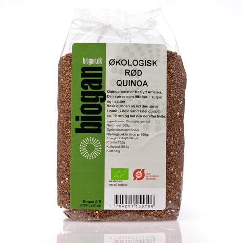 Image of   Biogan Økologisk Rød Quinoa - 500 G