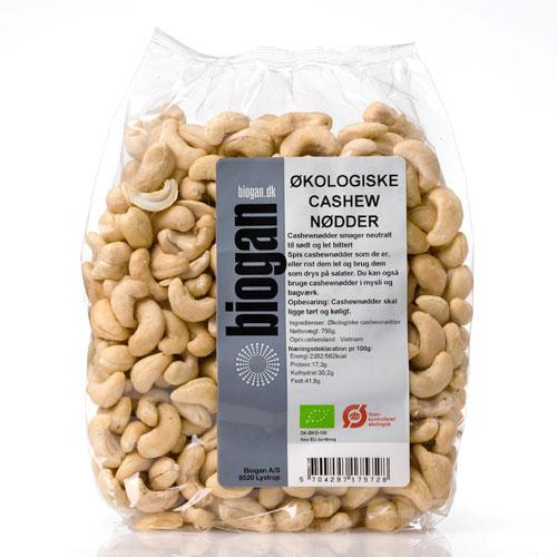 Biogan cashewnødder fra Mecindo