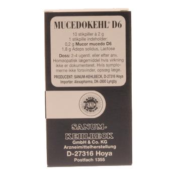 Image of   Sanum-Kehlbeck Mucedokehl Stikpiller - 10 stk