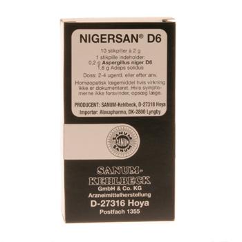 Image of   Sanum-Kehlbeck Nigersan Stikpiller - 10 stk