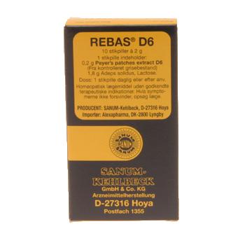 Image of   Sanum-Kehlbeck Rebas D6 Stikpiller - 10 stk