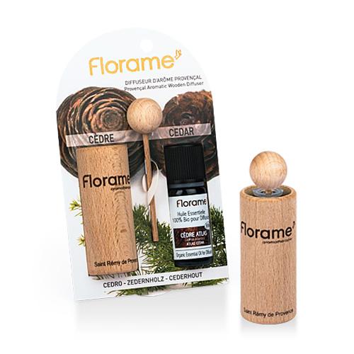 Image of   Florame Aromatic Wooden Diffuser Cedar - 1 Pakk