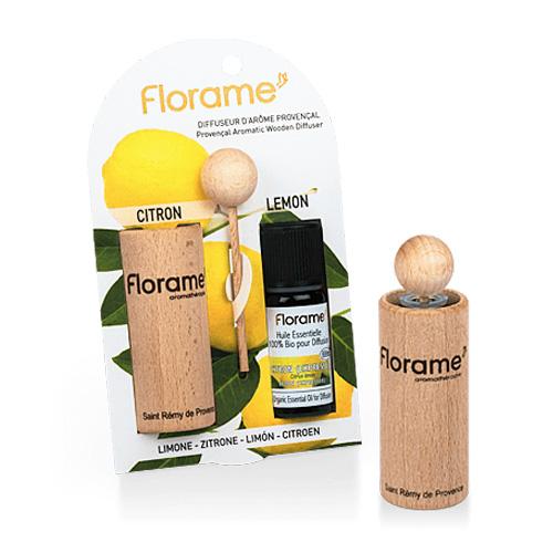 Image of   Florame Aromatic Wooden Diffuser Lemon - 1 Pakk