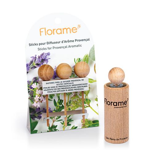Image of   Florame Træpinde 3 stk Wooden Diffuser - 1 Pakk