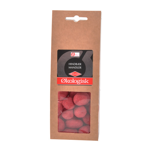 Økoladen Økologiske Hindbær Mandler - 80 G