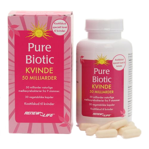 Image of   Renew Life Pure Biotic Kvinde 50 mia. mælkesyrebakterier - 30 Kaps