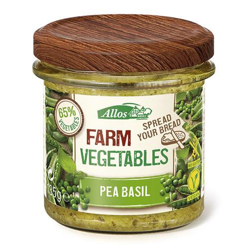 Image of Allos Farm Vegetables Smørepålæg Ærter/Basilikum Ø - 135 G