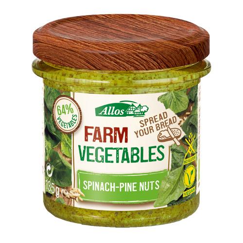 Image of Allos Farm Vegetables Smørepålæg m. spinat/pinjekerner Ø - 135 G