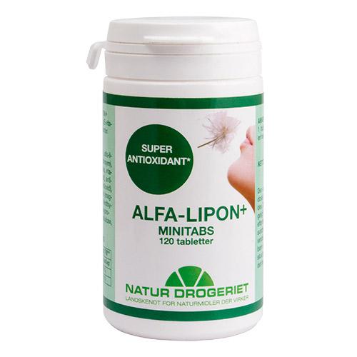 Billede af Natur-Drogeriet Alfa-lipon+ Minitabs - 120 Tabl
